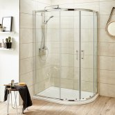 Premier Pacific Offset Quadrant Shower Enclosure 900mm x 760mm with Shower Tray RH - 6mm Glass