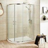 Premier Pacific Offset Quadrant Shower Enclosure 900mm x 760mm - 6mm Glass