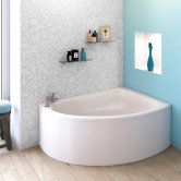Premier Pilot Offset Corner Bath 1450mm x 950mm Right Handed