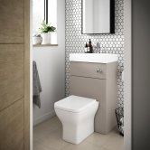 Premier Athena Toilet and Basin Combination Unit 500mm Wide - Stone Grey