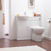 Premier Sienna Combination Furniture Pack 400mm Vanity Unit 500mm WC Unit 1 Tap Hole