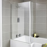 Premier Quattro L-Shaped Bath Screen with Fixed End Panel 1400mm High