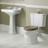 Nuie Richmond Traditional Bathroom Suite 595mm Wide - 2 Tap Hole