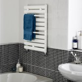 Nuie Designer Heated Ladder Towel Rail 650mm H x 445mm W - White