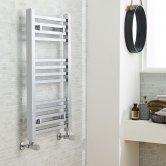 Nuie Straight Ladder Towel Rail 800mm H x 500mm W - Chrome