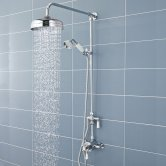 Nuie Victorian Exposed Shower Valve with Rigid Riser Kit - Chrome