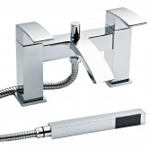 Nuie Vibe Bath Shower Mixer Tap Pillar Mounted - Chrome