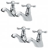 Nuie Viscount Range Bath and Basin Taps, Chrome
