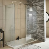 Nuie Walk-In Shower Enclosure 1200mm x 900mm (700mm+900mm Glass) with Tray
