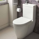Prestige Combi Mini Close Coupled Toilet with Cistern and Basin - Soft Close Seat