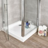 Prestige Klassik Square Shower Tray with Waste 760mm x 760mm Stone Resin
