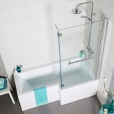 Prestige Tetris L-Shaped Shower Bath 1700mm x 700mm/850mm - Right Handed