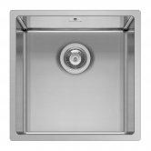 Pyramis Astris 1.0 Bowl Undermount Kitchen Sink with Waste Kit 440mm L x 440mm W - Stainless Steel