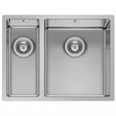 Pyramis Astris 1.5 Bowl Undermount Kitchen Sink with Waste Kit 575mm L x 440mm W - Right Handed