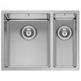 Pyramis Astris 1.5 Bowl Undermount Kitchen Sink with Waste Kit 575mm L x 440mm W - Left Handed