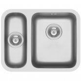 Pyramis Relia 1.5 Bowl Undermount Kitchen Sink with Waste Kit 573mm L x 450mm W - Right Handed