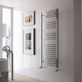 Radox Premier Curved Heated Towel Rail 1200mm H x 600mm W - White