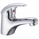 RAK Basic Small Mono Basin Mixer Tap with Clicker Waste - Chrome