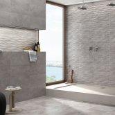 RAK Brussels Ceramic Wall Tiles 330mm x 550mm - Matt Decor Dark Grey (Box of 9)