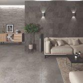 RAK Chiltern Ceramic Wall Tiles 300mm x 600mm - Matt Decor Anthracite (Box of 8)
