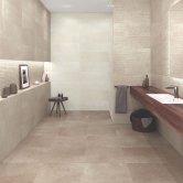 RAK Cumbria Ceramic Wall Tiles 300mm x 600mm - Matt Groove Decor Oyster (Box of 8)