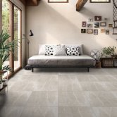 RAK Fusion Stone Lapatto Tiles - 600mm x 600mm - Beige (Box of 4)