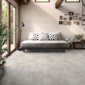 RAK Fusion Stone Lapatto Tiles - 600mm x 600mm - Ivory (Box of 4)