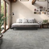 RAK Fusion Stone Porcelain Tiles - 750mm x 750mm - Grey (Box of 2)