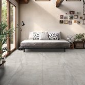 RAK Fusion Stone Porcelain Tiles - 750mm x 750mm - Ivory (Box of 2)