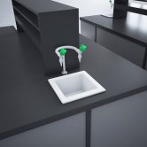 RAK Laboratory 2 Ceramic Belfast Kitchen Sink 1.0 Bowl 330mm L x 330mm W - White