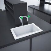 RAK Laboratory 3 Ceramic Belfast Kitchen Sink 1.0 Bowl 585mm L x 380mm W - White