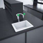 RAK Laboratory 4 Ceramic Belfast Kitchen Sink 1.0 Bowl 460mm L x 365mm W - White