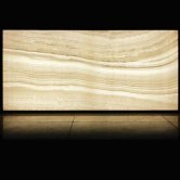 RAK Luce Full Lappato 6mm Translucent Tiles - 1200mm x 2600mm - Onyx White (Box of 1)