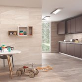 RAK Maxstoke Ceramic Wall Tiles 200mm x 600mm - Plain Cream (Box of 9)