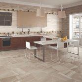 RAK Maxstoke Ceramic Wall Tiles 200mm x 600mm - Plain Taupe (Box of 9)