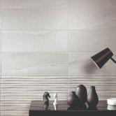RAK Maxstoke Ceramic Wall Tiles 200mm x 600mm - Decor Grey (Box of 9)