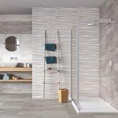 RAK Maxstoke Ceramic Wall Tiles 200mm x 600mm - Decor White (Box of 9)