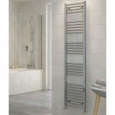 RAK Metropolitan Straight Ladder Towel Rail 1700mm H x 400mm W - Chrome