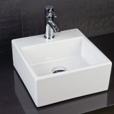 RAK Nova Mini Square 1 Tap Hole Basin - White