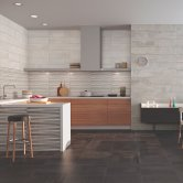 RAK Oxide Ceramic Wall Tiles 200mm x 600mm - Decor Gris (Box of 9)