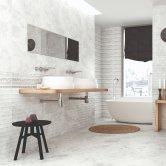 RAK Portofino Ceramic Wall Tiles 200mm x 600mm - Plain Blanco (Box of 9)