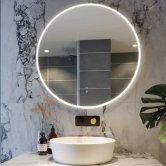 RAK Scorpio LED Round Mirror with Switch and Demister Pad 800mm H x 800mm W Illuminated