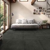 RAK Shine Stone Matt Tiles - 600mm x 600mm - Black (Box of 4)