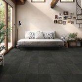 RAK Shine Stone Matt Tiles - 150mm x 600mm - Black (Box of 12)