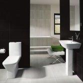 RAK Summit Bathroom Suite Close Coupled Toilet and Basin 600mm 1 Tap Hole