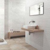 RAK Warwick Ceramic Wall Tiles 300mm x 600mm - Matt Decor White (Box of 8)