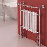 RAK Washington Traditional Radiator Heated Towel Rail 945mm H x 640mm W - Chrome/White