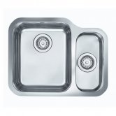 Rangemaster Atlantic Classic UB3515R 1.5 Bowl Undermount Kitchen Sink RH 597mm x 472mm Stainless