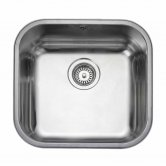 Rangemaster Atlantic Classic UB45 1.0 Bowl Undermount Kitchen Sink 490mm L x 460mm W Stainless