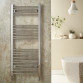 Redroom Elan Straight Heated Towel Rail 600mm H x 400mm W - Chrome